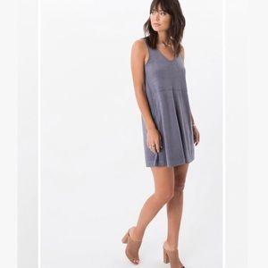 Z Supply Faux Suede Gray Sleeveless Dress XS